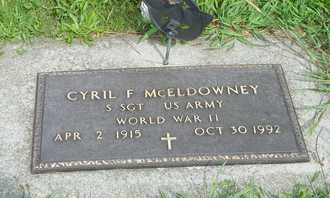 MCELDOWNEY, CYRIL F. - Darke County, Ohio | CYRIL F. MCELDOWNEY - Ohio Gravestone Photos