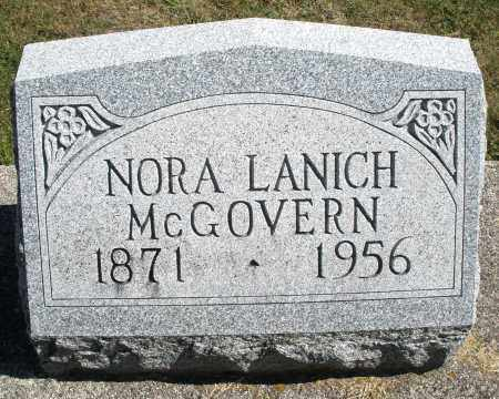 LANICH MCGOVERN, NORA - Darke County, Ohio | NORA LANICH MCGOVERN - Ohio Gravestone Photos