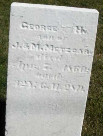 METZGAR, GEORGE H. - Darke County, Ohio | GEORGE H. METZGAR - Ohio Gravestone Photos