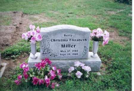 MILLER, CHRISTINA  ELIZABETH - Darke County, Ohio | CHRISTINA  ELIZABETH MILLER - Ohio Gravestone Photos