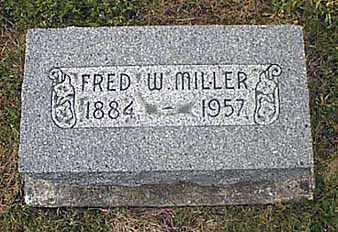 MILLER, FREDERICK WALTER - Darke County, Ohio | FREDERICK WALTER MILLER - Ohio Gravestone Photos