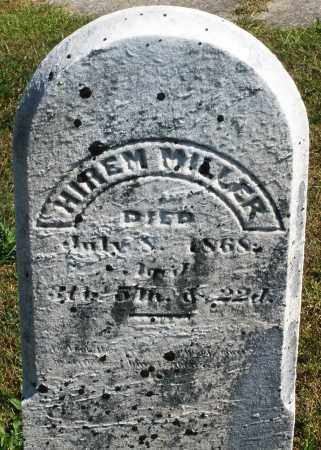 MILLER, HIREM - Darke County, Ohio | HIREM MILLER - Ohio Gravestone Photos