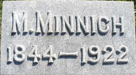 MINNICH, M. - Darke County, Ohio | M. MINNICH - Ohio Gravestone Photos