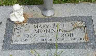 MONNIN, MARY LOU - Darke County, Ohio | MARY LOU MONNIN - Ohio Gravestone Photos