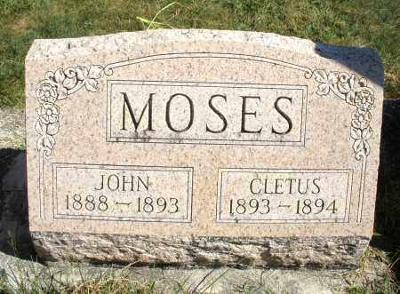MOSES, CLETUS - Darke County, Ohio | CLETUS MOSES - Ohio Gravestone Photos