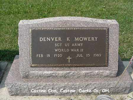 MOWERY, DENVER - Darke County, Ohio | DENVER MOWERY - Ohio Gravestone Photos