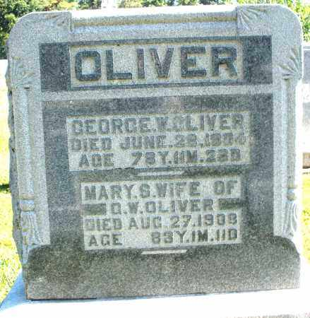 OLIVER, GEORGE W. - Darke County, Ohio | GEORGE W. OLIVER - Ohio Gravestone Photos