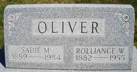 OLIVER, ROLLIANCE W. - Darke County, Ohio | ROLLIANCE W. OLIVER - Ohio Gravestone Photos