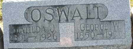 OSWALT, GEORGE W. - Darke County, Ohio | GEORGE W. OSWALT - Ohio Gravestone Photos