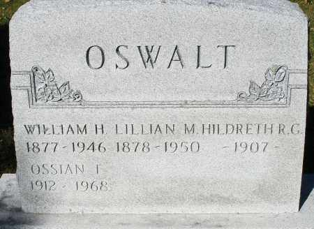 OSWALT, HILDRETH R.G. - Darke County, Ohio | HILDRETH R.G. OSWALT - Ohio Gravestone Photos