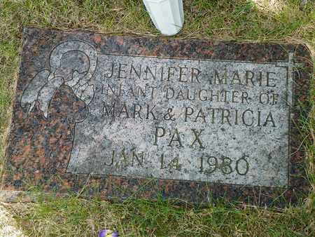 PAX, JENNIFER MARIE - Darke County, Ohio | JENNIFER MARIE PAX - Ohio Gravestone Photos