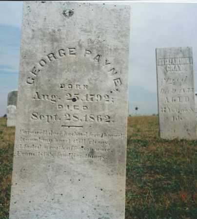 PAYNE, GEORGE - Darke County, Ohio   GEORGE PAYNE - Ohio Gravestone Photos