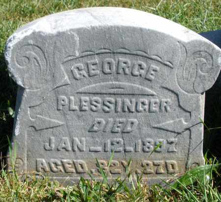 PLESSINGER, GEORGE - Darke County, Ohio | GEORGE PLESSINGER - Ohio Gravestone Photos