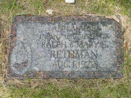 RETHMAN, ANN MARIE - Darke County, Ohio   ANN MARIE RETHMAN - Ohio Gravestone Photos