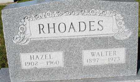 RHOADES, WALTER - Darke County, Ohio | WALTER RHOADES - Ohio Gravestone Photos
