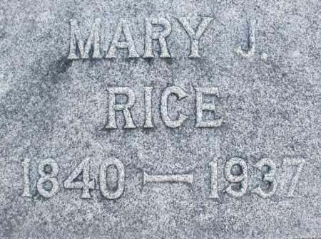 RICE, MARY J. - Darke County, Ohio | MARY J. RICE - Ohio Gravestone Photos