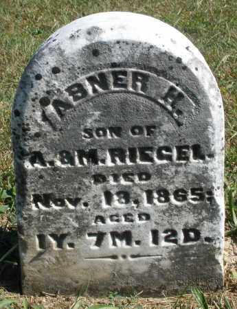 RIEGEL, ABNER H. - Darke County, Ohio | ABNER H. RIEGEL - Ohio Gravestone Photos