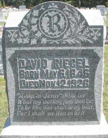 RIEGEL, DAVID - Darke County, Ohio | DAVID RIEGEL - Ohio Gravestone Photos