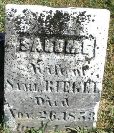 RIEGEL, SALOME - Darke County, Ohio | SALOME RIEGEL - Ohio Gravestone Photos