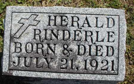 RINDERLE, HERALD - Darke County, Ohio | HERALD RINDERLE - Ohio Gravestone Photos