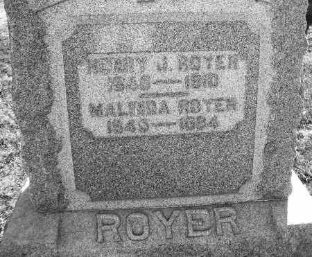 ROYER, MALINDA - Darke County, Ohio | MALINDA ROYER - Ohio Gravestone Photos