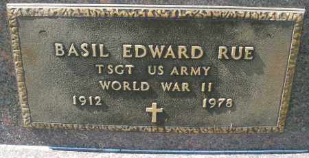 RUE, BASIL EDWARD - Darke County, Ohio | BASIL EDWARD RUE - Ohio Gravestone Photos
