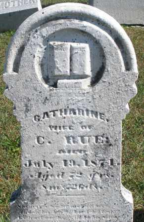 RUE, CATHARINE - Darke County, Ohio | CATHARINE RUE - Ohio Gravestone Photos