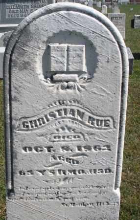 RUE, CHRISTIAN - Darke County, Ohio | CHRISTIAN RUE - Ohio Gravestone Photos