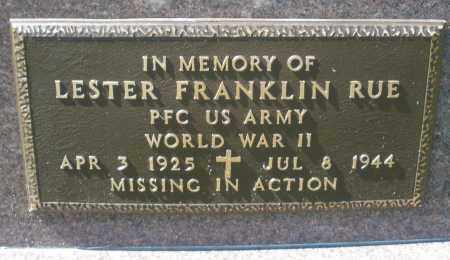 RUE, LESTER FRANKLIN - Darke County, Ohio | LESTER FRANKLIN RUE - Ohio Gravestone Photos