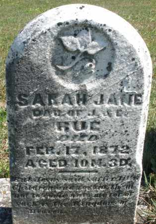 RUE, SARAH JANE - Darke County, Ohio | SARAH JANE RUE - Ohio Gravestone Photos