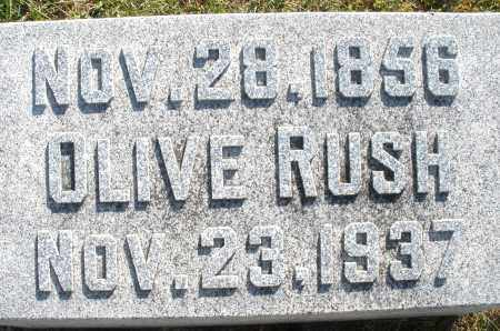 RUSH, OLIVE - Darke County, Ohio | OLIVE RUSH - Ohio Gravestone Photos