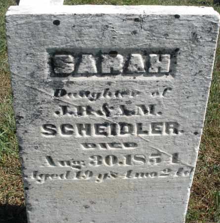 SCHEIDLER, SARAH - Darke County, Ohio | SARAH SCHEIDLER - Ohio Gravestone Photos