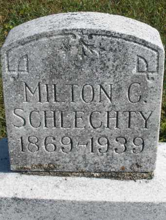 SCHLECHTY, MILTON - Darke County, Ohio | MILTON SCHLECHTY - Ohio Gravestone Photos