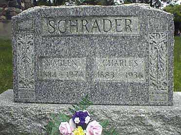 SCHRADER, CHARLES - Darke County, Ohio | CHARLES SCHRADER - Ohio Gravestone Photos