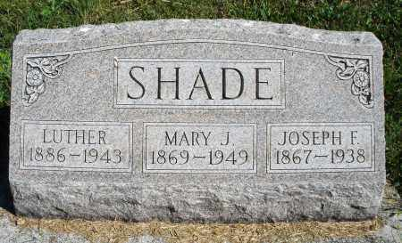 SHADE, JOSEPH F. - Darke County, Ohio | JOSEPH F. SHADE - Ohio Gravestone Photos