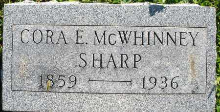 MCWHINNEY SHARP, CORA E. - Darke County, Ohio | CORA E. MCWHINNEY SHARP - Ohio Gravestone Photos