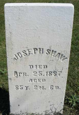 SHAW, JOSEPH - Darke County, Ohio | JOSEPH SHAW - Ohio Gravestone Photos