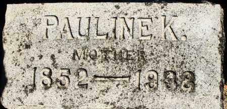 SHEWMON, PAULINE K. - Darke County, Ohio | PAULINE K. SHEWMON - Ohio Gravestone Photos