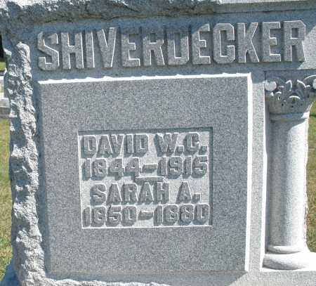SHIVERDECKER, SARAH A. - Darke County, Ohio | SARAH A. SHIVERDECKER - Ohio Gravestone Photos