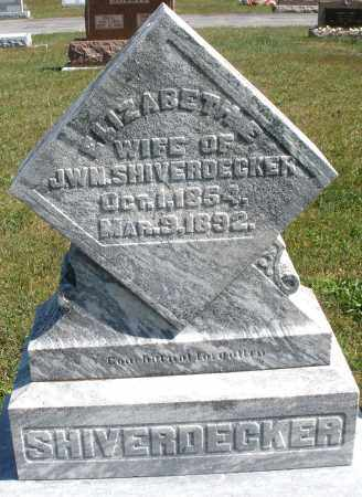 SHIVERDECKER, ELIZABETH E. - Darke County, Ohio | ELIZABETH E. SHIVERDECKER - Ohio Gravestone Photos