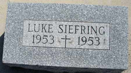 SIEFRING, LUKE - Darke County, Ohio | LUKE SIEFRING - Ohio Gravestone Photos