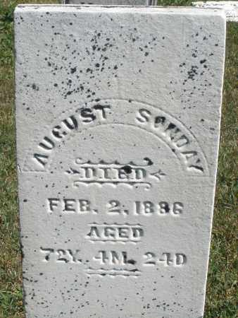 SONDAY, AUGUST - Darke County, Ohio | AUGUST SONDAY - Ohio Gravestone Photos