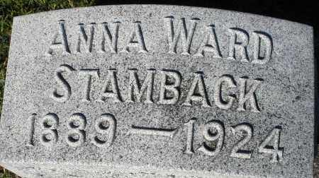 WARD STAMBACK, ANNA - Darke County, Ohio | ANNA WARD STAMBACK - Ohio Gravestone Photos