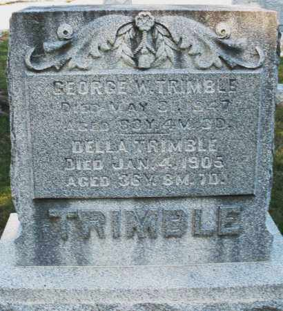 TRIMBLE, GEORGE W. - Darke County, Ohio | GEORGE W. TRIMBLE - Ohio Gravestone Photos