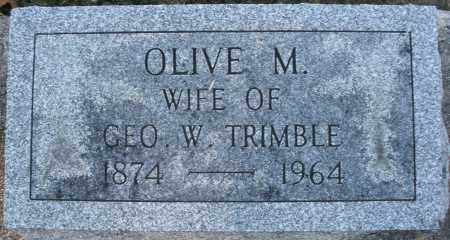 TRIMBLE, OLIVE M. - Darke County, Ohio | OLIVE M. TRIMBLE - Ohio Gravestone Photos