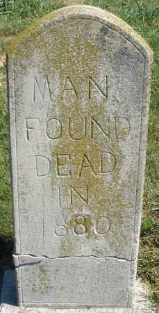 UNKNOWN, MAN - Darke County, Ohio | MAN UNKNOWN - Ohio Gravestone Photos