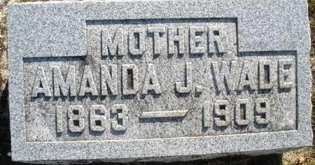 WADE, AMANDA J. - Darke County, Ohio | AMANDA J. WADE - Ohio Gravestone Photos