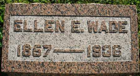 WADE, ELLEN E. - Darke County, Ohio | ELLEN E. WADE - Ohio Gravestone Photos
