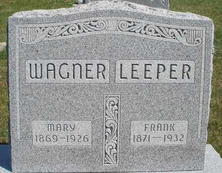 WAGNER, MARY - Darke County, Ohio | MARY WAGNER - Ohio Gravestone Photos