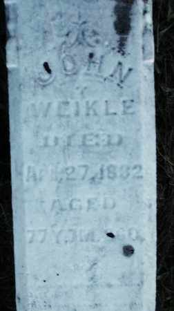 WEIKLE, JOHN - Darke County, Ohio   JOHN WEIKLE - Ohio Gravestone Photos
